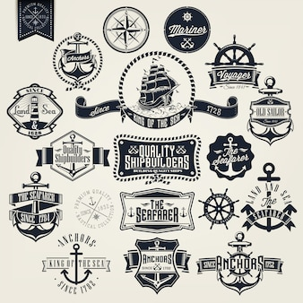 Sailing badges collection