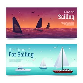Sailing banners set