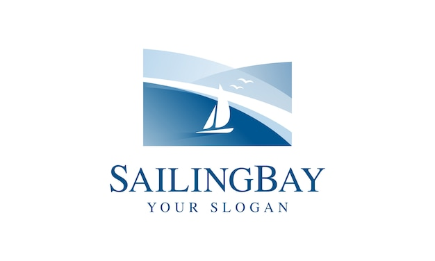 Sailing bay logo