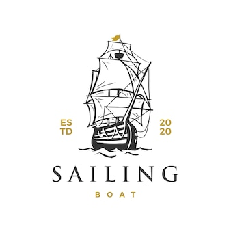 Sailing boat logo  icon illustration