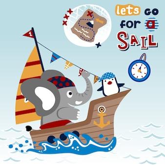 Sailing cartoon