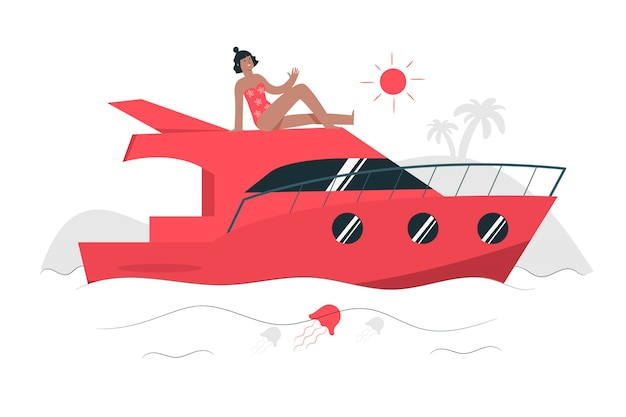 Sailing concept illustration