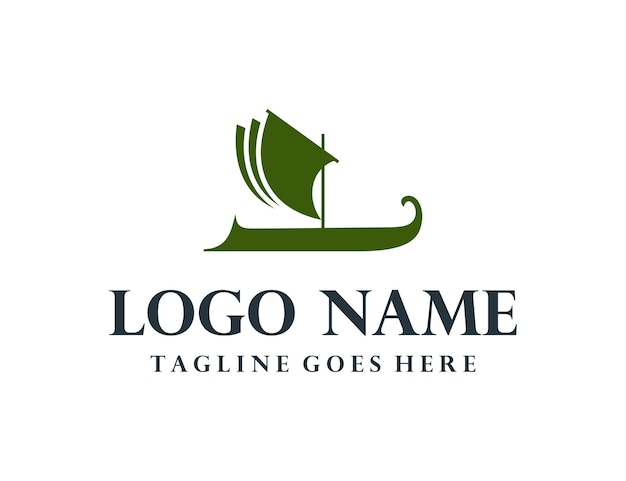 Sailing vessel simple sleek creative geometric logo design