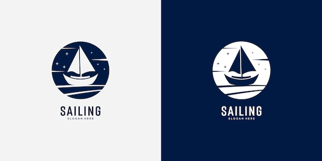 Парусная яхта дизайн логотипа