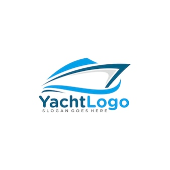 Парусный спорт, шаблон логотипа яхты