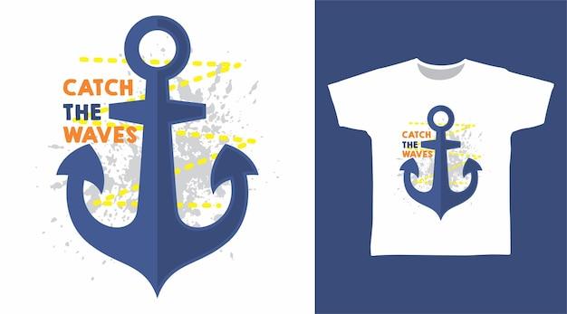 Sailor anchor tshirt design