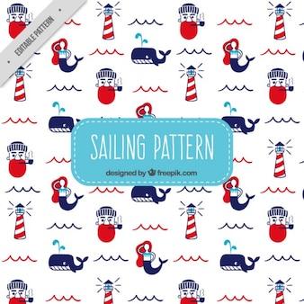 セーラーと灯台パターン