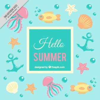 Sailor background in summertime
