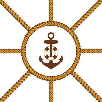 Sailor lasso rope vector
