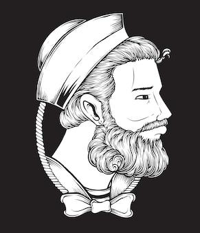 Sailor man drawing