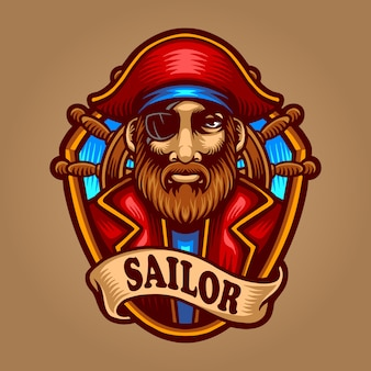 Sailor premium illustration