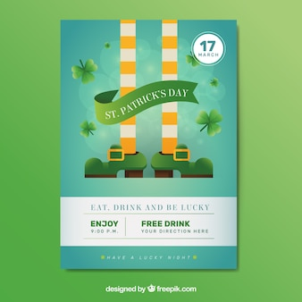 Sain patrick day party brochure