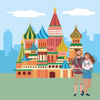 The saint basil cathedral of moscow n