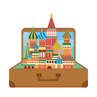 The saint basil s cathedral of moscow design vector illustration