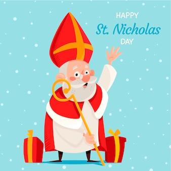 聖ニコラスの日の手描きの背景