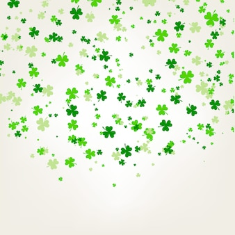 Saint patrick day background with trefoil clover