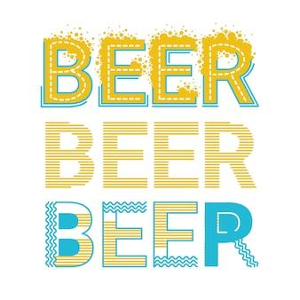 Saint patrick day beer festival beer word design