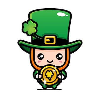 Saint patrick day cartoon character leprechaun