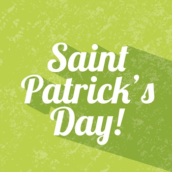 Saint patrick day over green background vector illustration