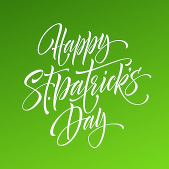 Saint patrick day greeting lettering design element.  illustration