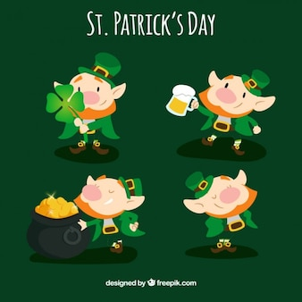 Saint patrick day leprechaun collection