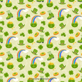 Saint patrick day leprechaun pattern