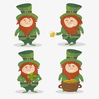 聖パトリック。アイルランドの国民の祝日。白い背景で隔離のベクトルイラスト。
