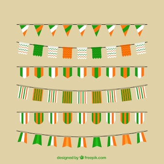 Saint patrick's day bunting collection
