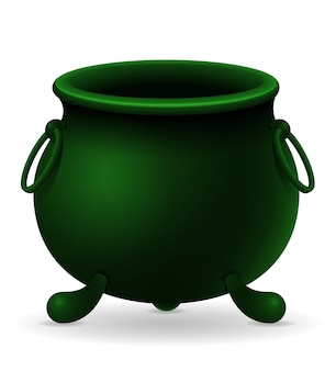Saint patrick's day cauldron vector illustration