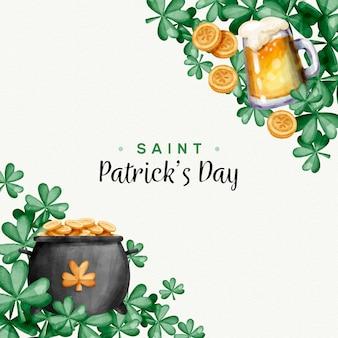 Празднование дня святого патрика с пивом