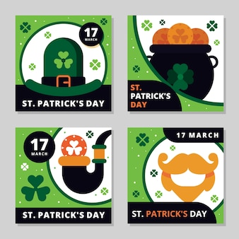 Saint patrick's day instagram post collection