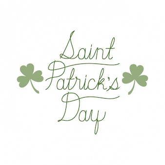 Saint patrick`s day label isolated icon
