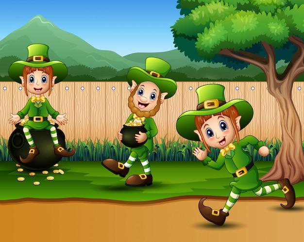 聖パトリックの日レプラコーンは、自然を祝います