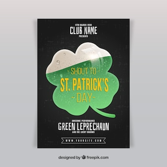 Saint patrick's day poster in realistic style