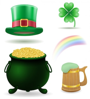 Saint patrick's day set vector illustration