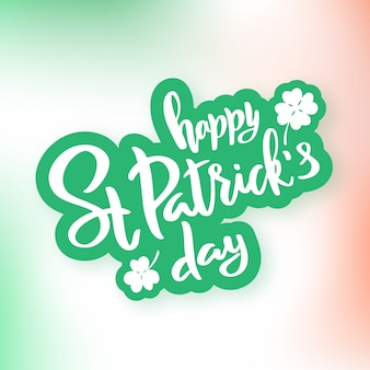 Saint patrick's day typography lettering poster.