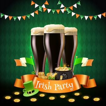 Saint patrick's irish party illustration