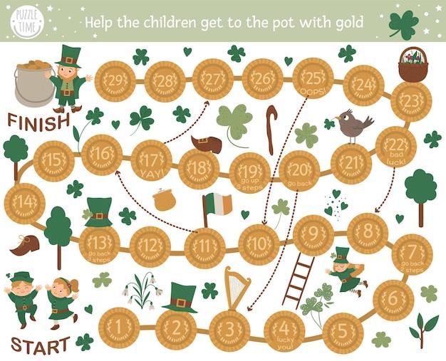 Настольная приключенческая игра на день святого патрика для детей со спортом и активностями