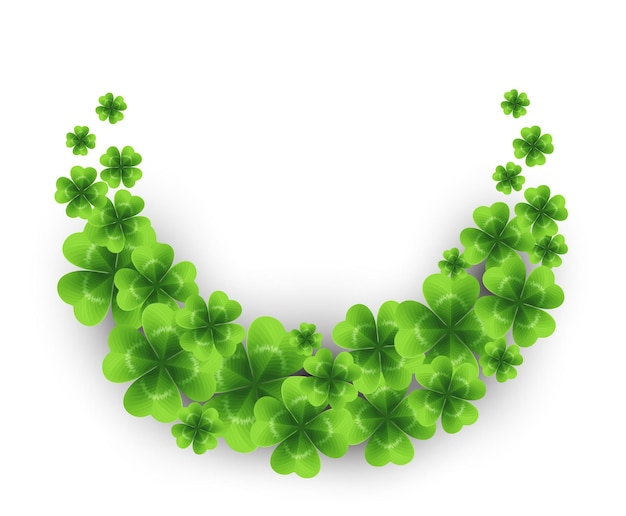 Saint patricks day background with sprayed clover leaves or shamrocks.  illustration