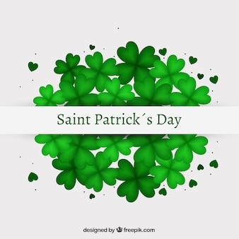 Saint patricks day card with shamrocks
