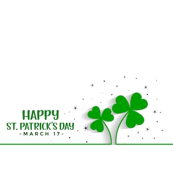 Saint patricks day clover leaves background