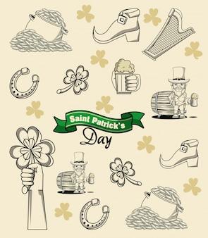 聖パトリックの日の要素