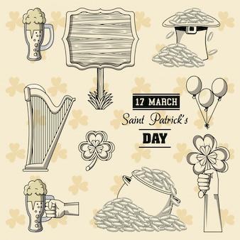 Saint patricks day elements