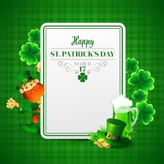 Saint patricks day  illustration with leprechaun