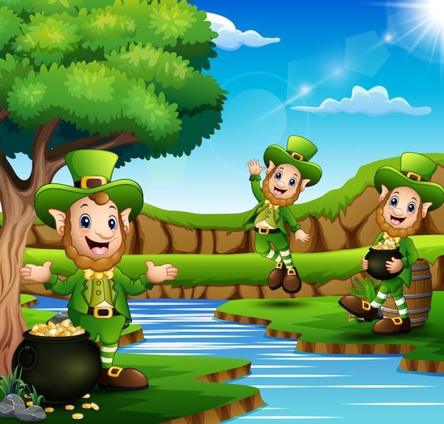 Saint patricks day leprechaun celebrate on nature