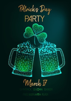 Saint patricks day party invitation flye