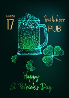 Saint patricks day party invitation flyer