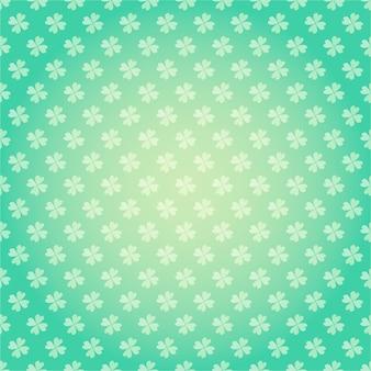 Saint patricks day seamless pattern with clover shamrock  cartoon colorful spring