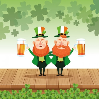 Saint patricks elves cartoons