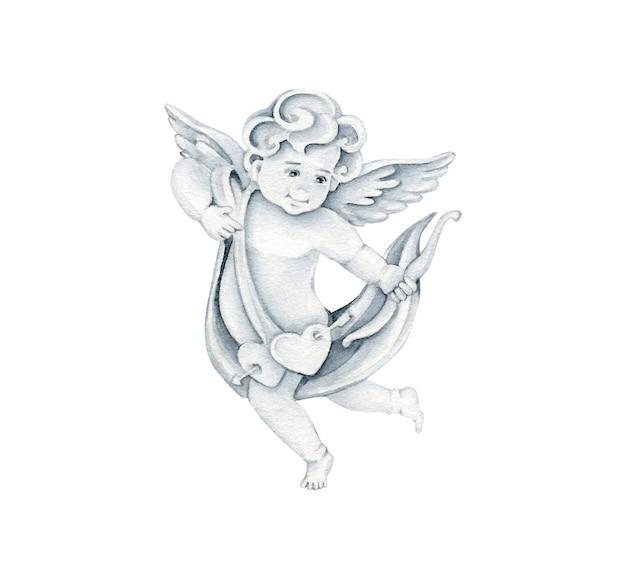 Святой валентина ангельская иллюстрация